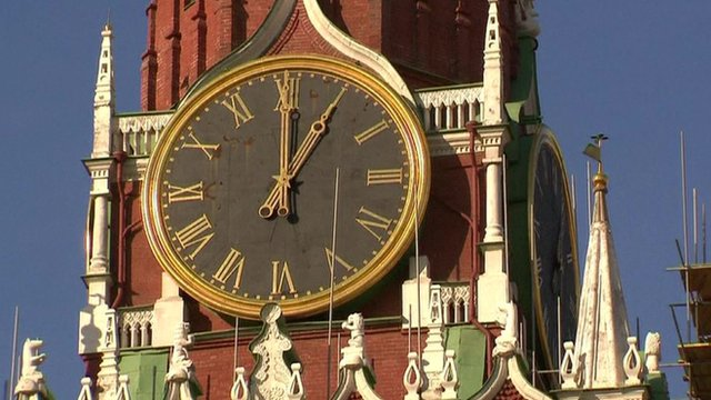 VIDEO: Russia turns back clocks for good...
