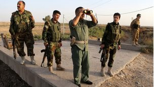 Peshmergas in town of Gwer, south of Irbil - 18 September