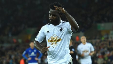 Swansea forward Wilfried Bony