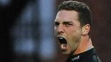 Wales wing George North scored a treble against his countrymen from the Ospreys