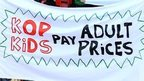 Liverpool fans hold prices protest