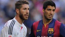 Luis Suarez and Sergio Ramos