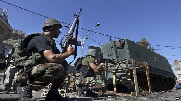 Lebanese troops in Tripoli - 26 October