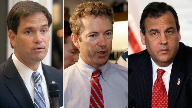 Marco Rubio, Rand Paul and Chris Christie