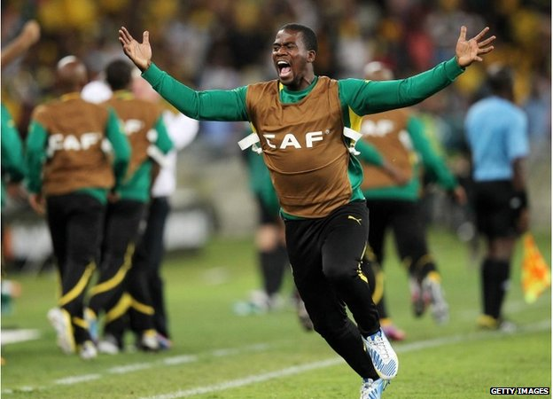 Senzo Meyiwa of South Africa during the 2013 Orange African Cup of Nations 13 January 2013