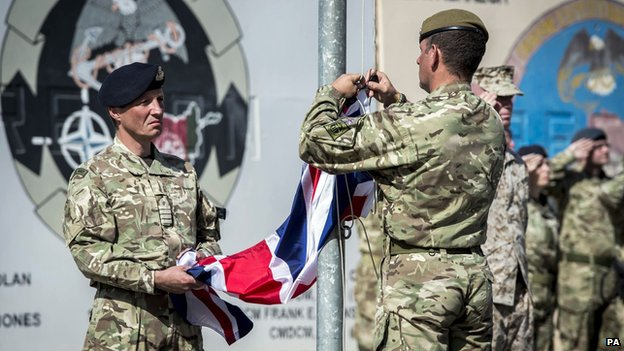 Handover ceremony at Camp Bastion on 26 October 2014