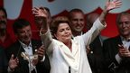 Dilma Rousseff celebrates victory in Brazil's presidential election