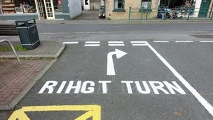 Warsop road marking