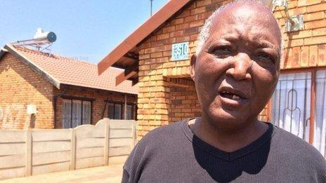 Lesley Ngcatshe a neighbour who heard the gun shot