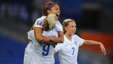 England Women's team goal celebration