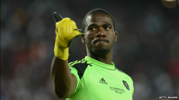 Senzo Meyiwa during the CAF Champions League Final between Orlando Pirates and Al Ahly in Soweto, SA - 02 November 2013