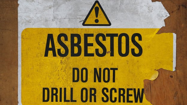 Asbestos warning sign (file image)