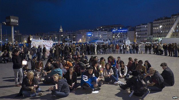 A protest in Marseille (27 Oct)