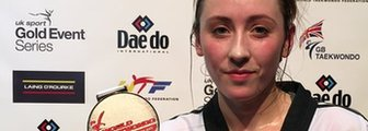 Jade Jones with her Grand Prix silver medal