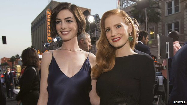 Anne Hathaway (left) and Jessica Chastain