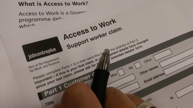 Access to work forms
