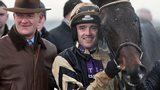 Trainer Willie Mullins and jockey Ruby Walsh with Boston Bob after the horse's Punchestown Gold Cup win in April
