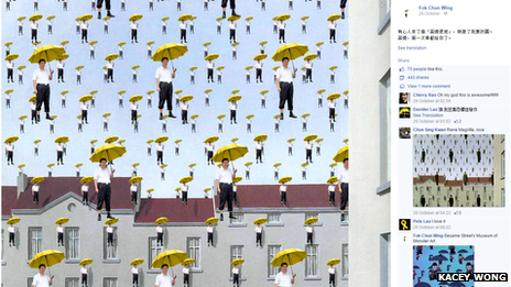 Xi Jinping holding a yellow umbrella