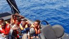 Migrants picked up by Italy - file pic