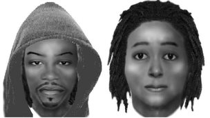 Composite images of the suspects in the shooting of Senzo Meyiya