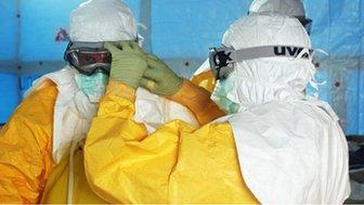 Doctors preparing to treat Ebola patients