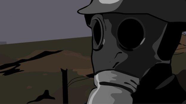 Illustration of a gas mask