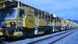 Network Rail's high output ballast cleaner