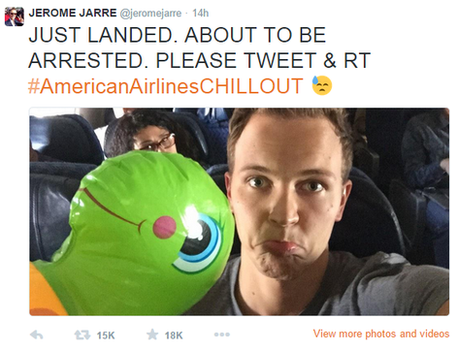 Jerome Jarre with his 'duck'