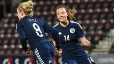 Kim Little scored for Scotland in the first leg