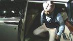 Kuljinder Singh Sidhu getting out of car