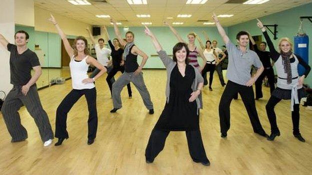 Arlene Phillips dance class