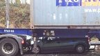 Car under lorry