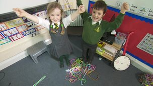 children making loom bands