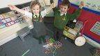 children making loom bands