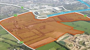 Cuerden Strategic Site, at the end of the M65 near Preston