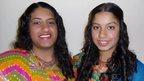 Trisha, 19, and Nisha Lad, 16,