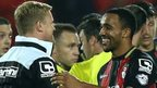 Bournemouth boss Eddie Howe congratulates match-winner Callum Wilson