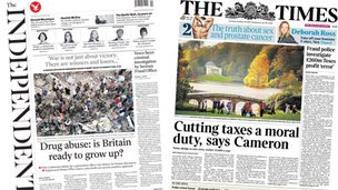 Independent/Times front pages