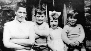 Jean McConville (left) with three of her children