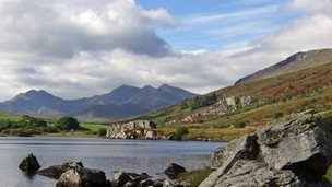 View of Snowdonia from Capel Curig