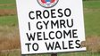 Welcome to Wales sign