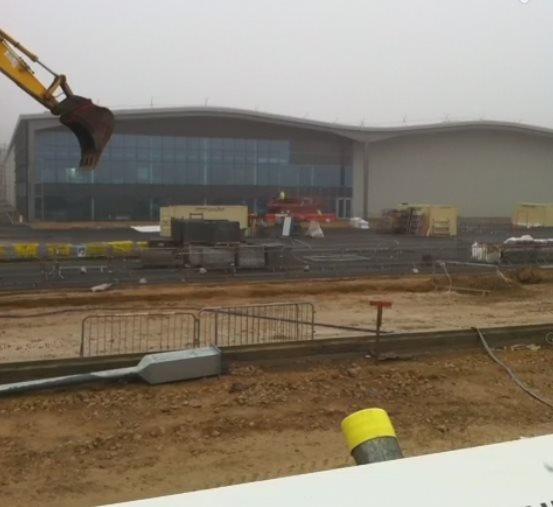 Hitachi Rail Europe factory being built