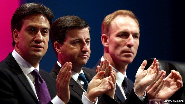 Ed Miliband, Douglas Alexander and Jim Murphy