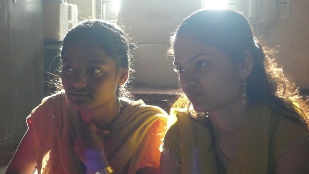 Girls at the Durga Vahini camp