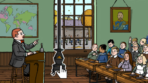 An illustrated classroom