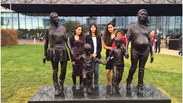 Artist Gillian Wearing with sisters Roma and Emma Jones