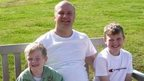 Darren Sykes with his two sons Paul and Jack