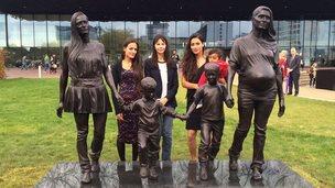 Real Birmingham Family statue