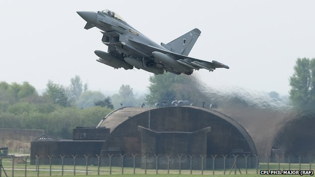 RAF Typhoon jet - file pic