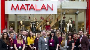 Staff in front of the new Matalan store